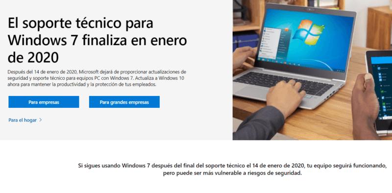 Hoy finaliza el soporte para Windows 7