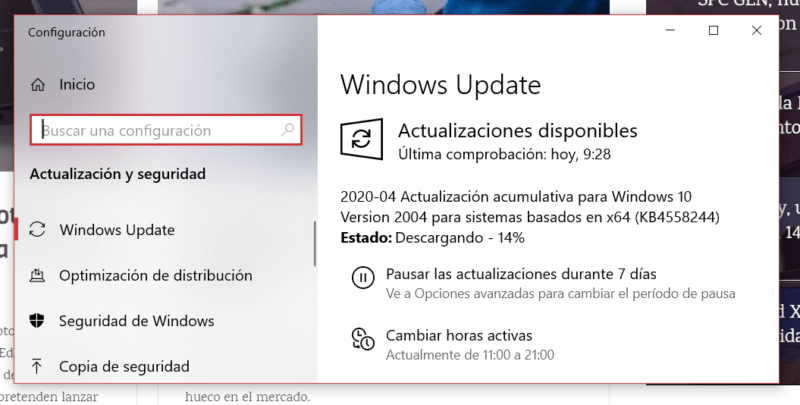 Microsoft lanza la Build 19041.208 para el anillo lento de Windows 10 Insider preview