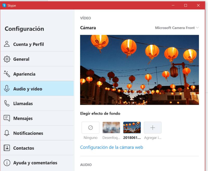 Skype ya cuenta con fondos personalizados