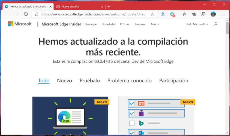 Microsft Edge Dev se actualiza y ya permite importar datos desde Firefox