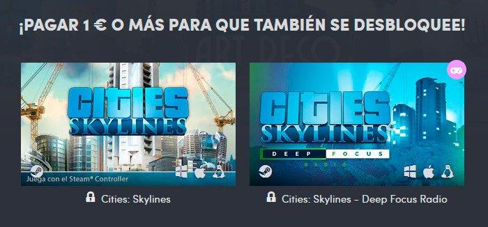 Paga 1€ o más para llevarte Cities: Skylines y una radio dentro del juego