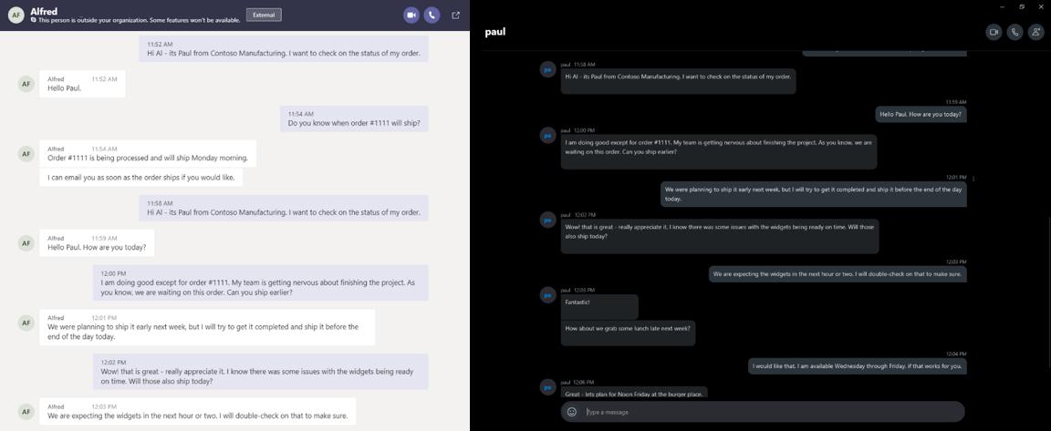 Comunicación entre Microsoft Teams y Skype