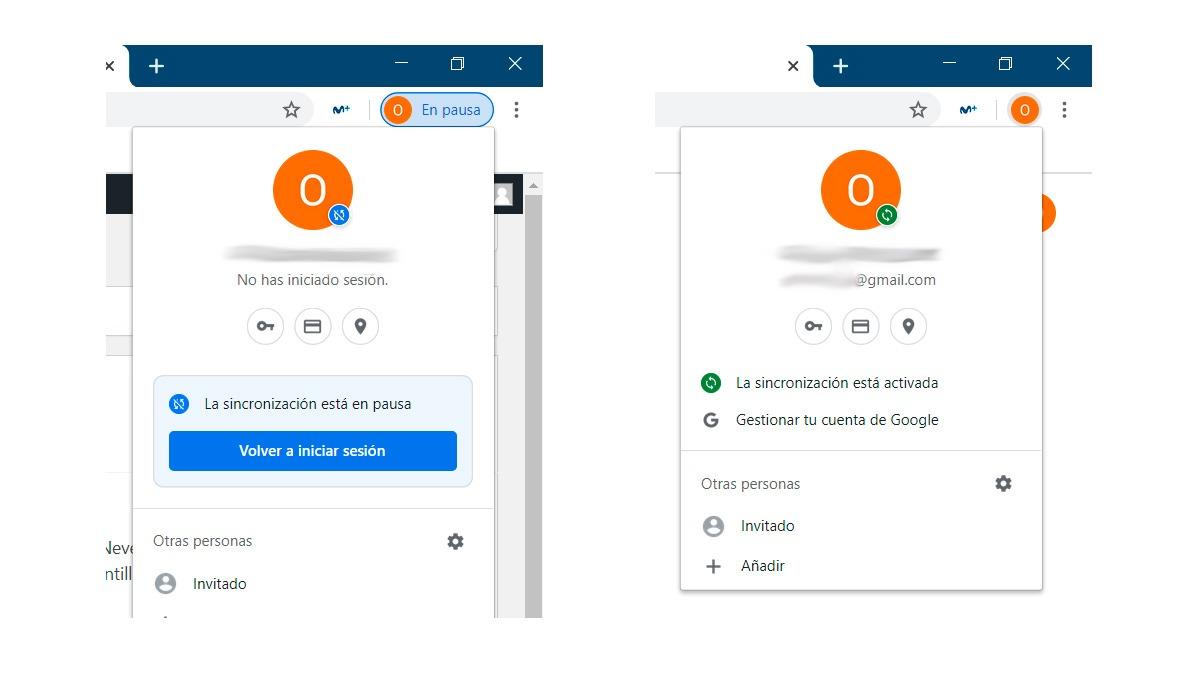 Sincronización en pausa de la sesión de Google en Chrome para Windows 10