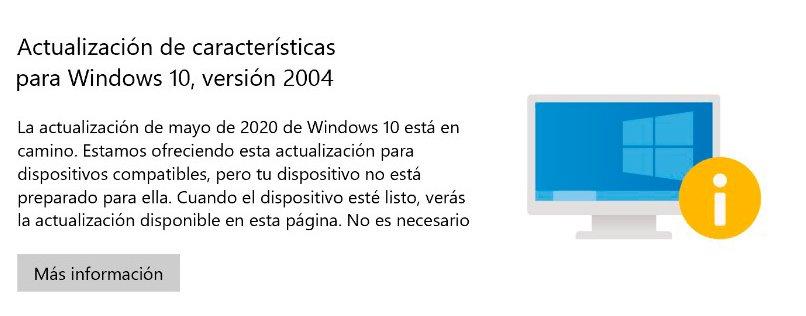 La Actualización de Mayo de 2020 de Windows 10 está en camino
