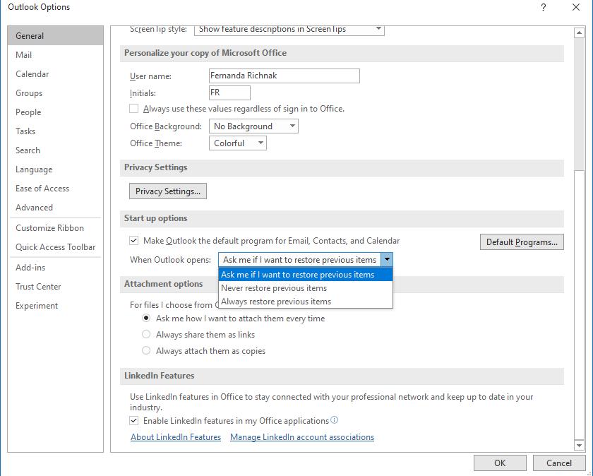 Recuperar tus ventanas cerradas de Outlook pronto será posible