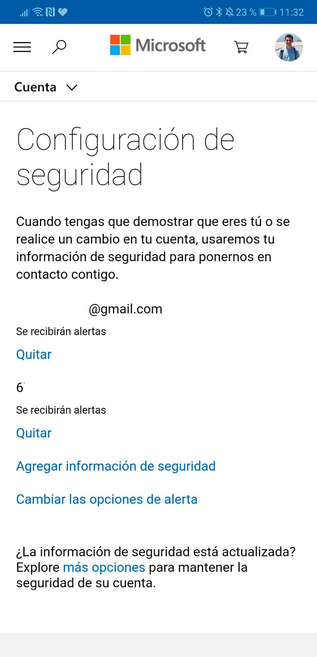 Configuración de tu cuenta en Microsoft Authenticator
