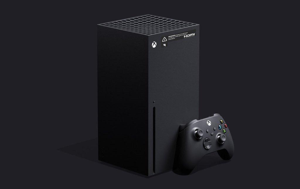 Imagen no oficial de una Xbox Series X con la pegatina HDMI