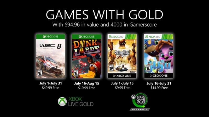 juegos con gold julio