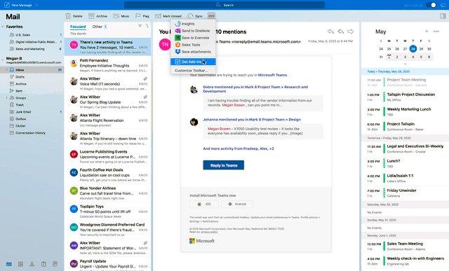 Outlook para Mac recibe gran cantidad de novedades en su versión para Insiders