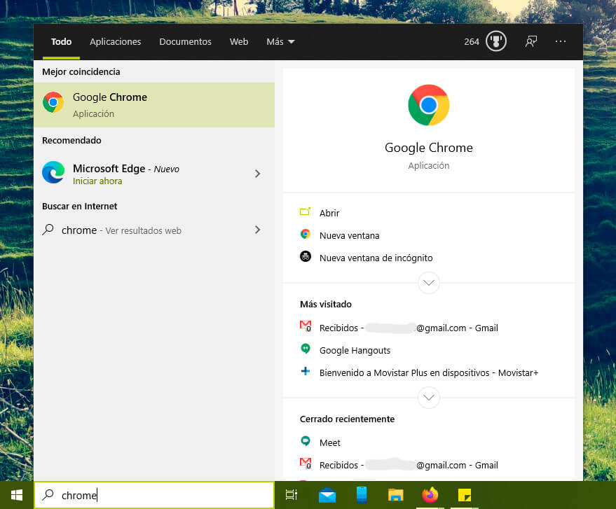 Inicia ahora Microsoft Edge, recomendación al buscar Chrome