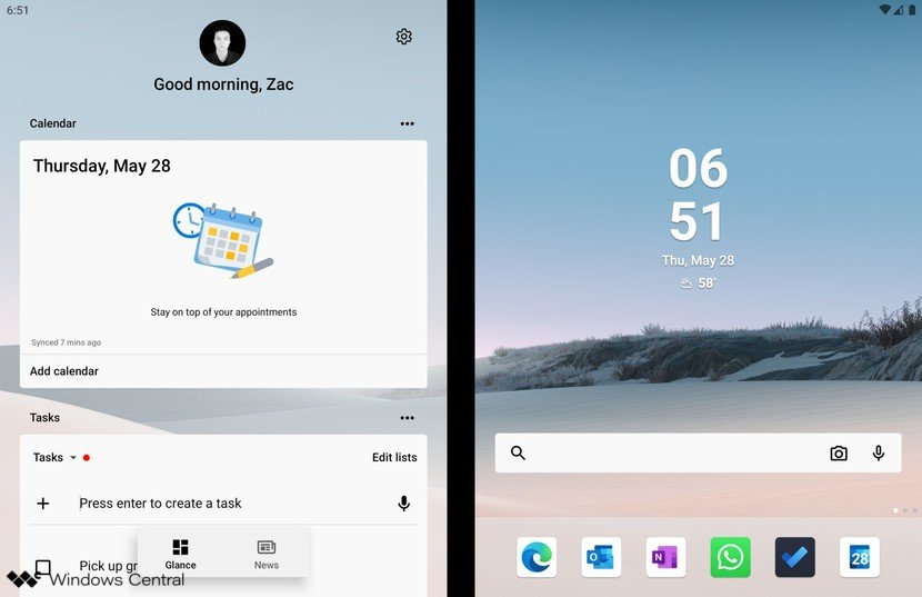 Microsoft Launcher en Surface Duo
