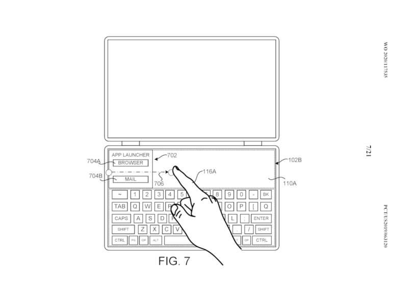 Surface Neo podría cambiar entre modos de entrada según una patente
