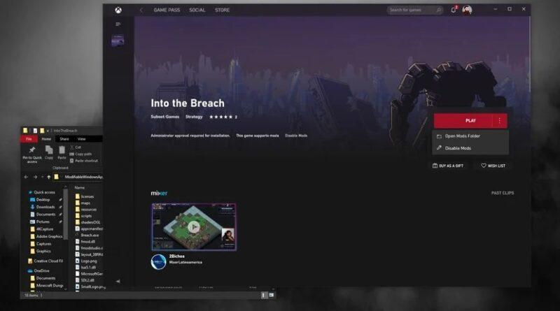 Xbox (Beta) en PC agrega soporte para mods en juegos