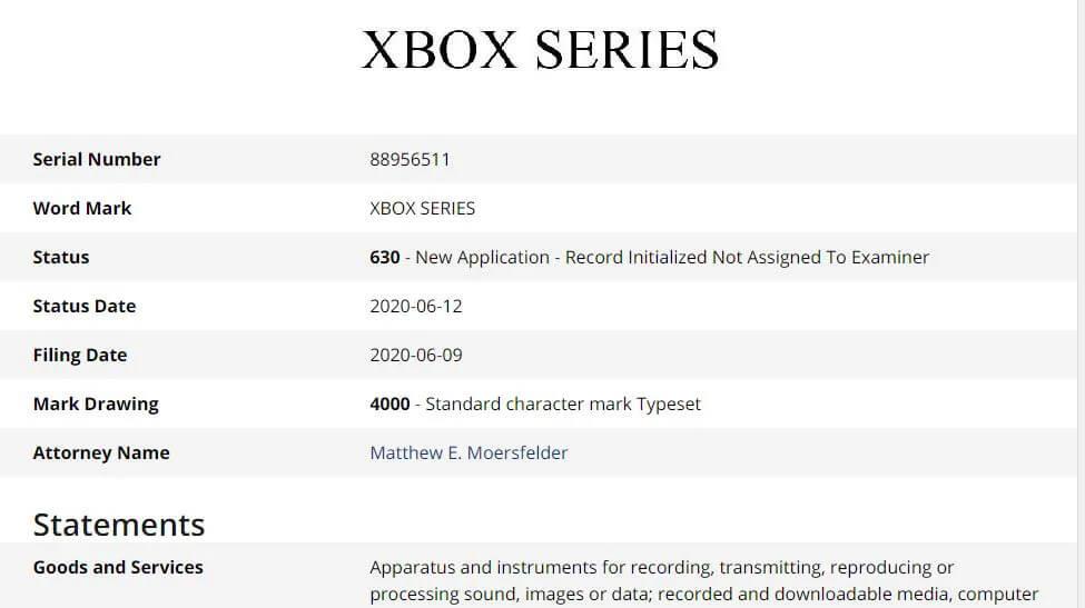 Microsoft registra la marca Xbox Series