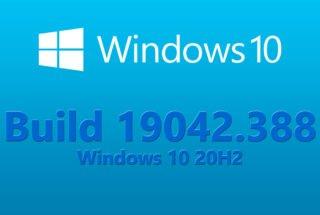 Build 19042.388 (20H2)