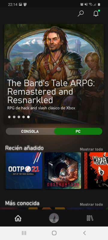 La Beta de Xbox Game Pass para Android renueva su interfaz completamente