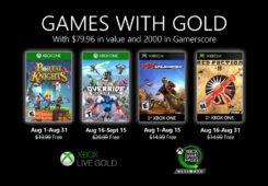 Juegos con gold Agosto 2020