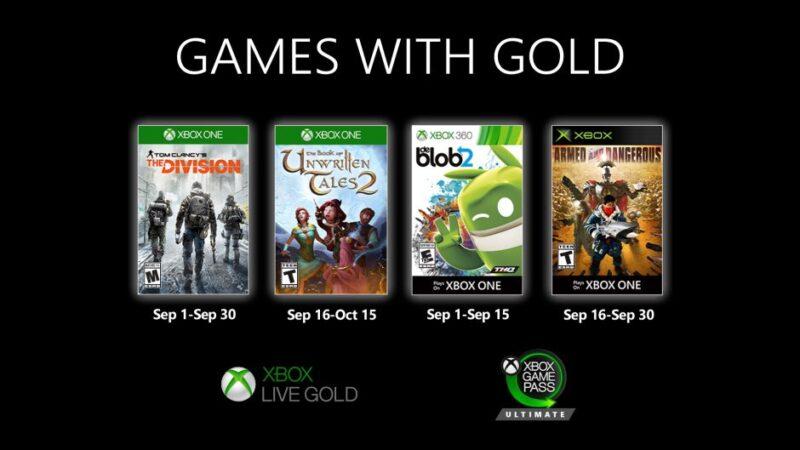 Ya tenemos los Games with Gold de Septiembre