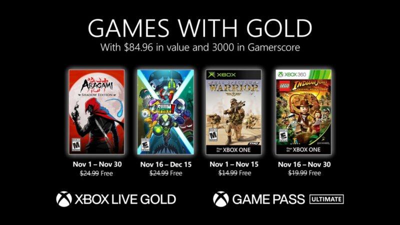 Estos son los Games with Gold para noviembre de 2020