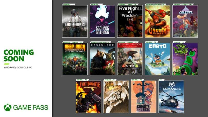 Nuevos juegos que llegan a Xbox Game Pass