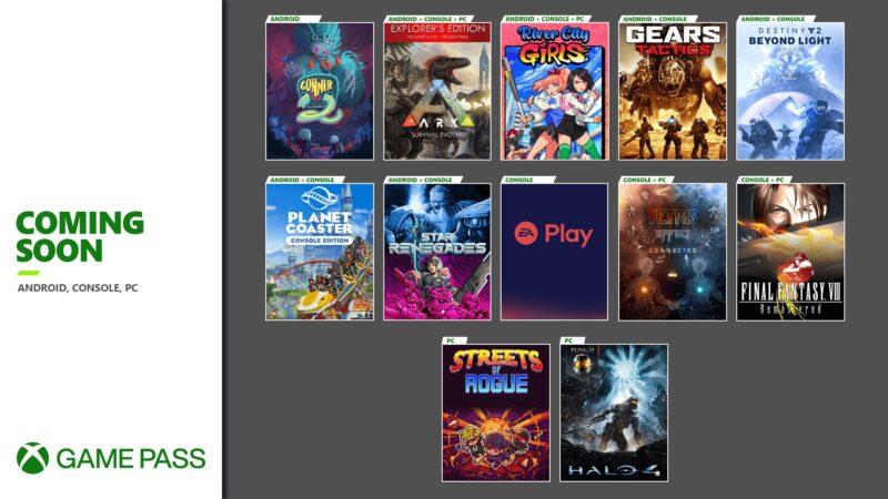 Próximos títulos disponibles en Xbox Game Pass