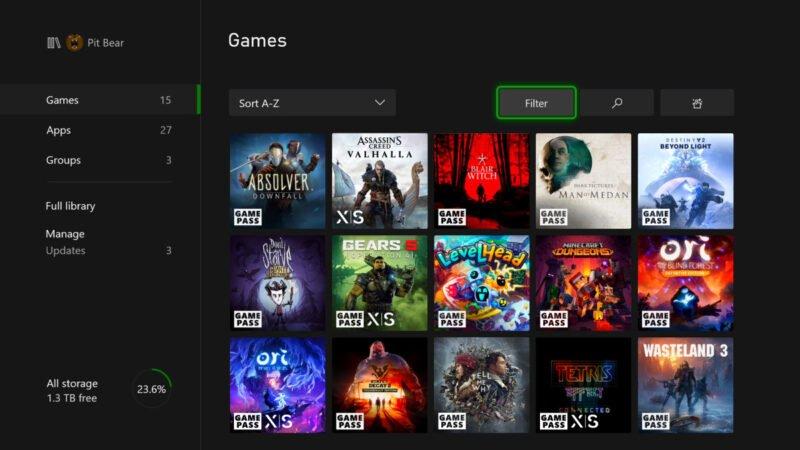 La actualización de noviembre comienza a implementarse en Xbox Series X-S y Xbox One