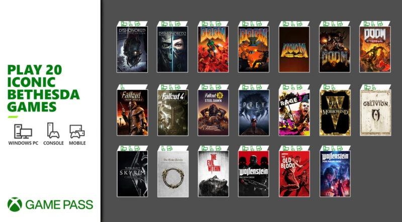 Notición: 20 juegos de Bethesda llegan a Xbox Game Pass