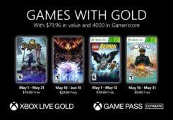 Nuevos Games with Gold para el mes de Mayo en Xbox