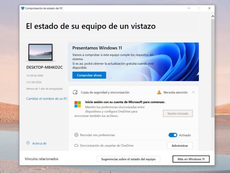 Comprueba si tu PC se podrá actualizar a Windows 11