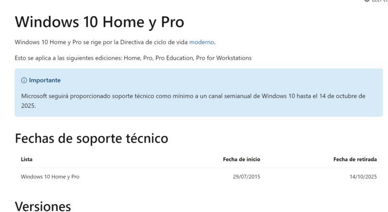 Microsoft pone fecha al fin del soporte para Windows 10 avivando los rumores de Windows 11