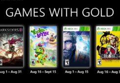 Los Games with Gold para Agosto de Xbox incluyen Darksiders III entre sus nuevos títulos