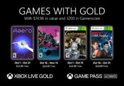 Conocemos los Games with Gold de octubre de 2021